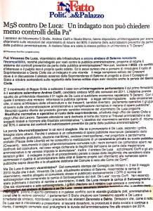 Il Fatto Quotidiano 5 agosto 2013