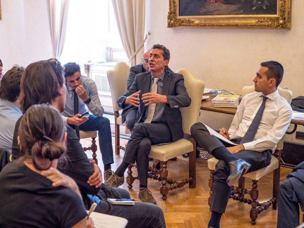 Andrea Cioffi e Luigi Di Maio